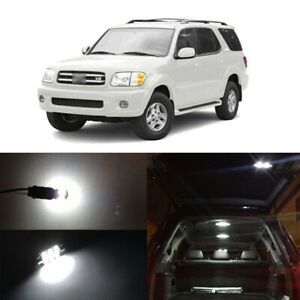 13 X White Led Interior Bulbs Light Package For 2004 2007 Toyota Sequoia