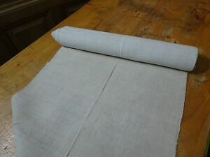 A Homespun Linen Hemp Flax Yardage 6 Yards X 18 5 Plain 8340