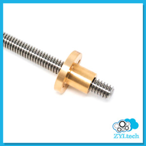 1 2 10 Stainless Steel Acme Threaded Rod Lead Screw W Brass Nut 12 24 36 48