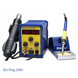 Baku Bk 878l2 700w 220v Eu Plug 2 In 1 Rework Station Soldering Iron And Hot Ai