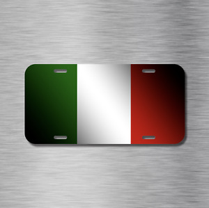 Italy Italian Flag Vehicle License Plate Front Auto Tag Plate Rome Milan New