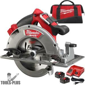 M18 Fuel 7 1 4 Circular Saw High Demand Kt 2x 9 0 Batts Milwaukee 2731 22hd New