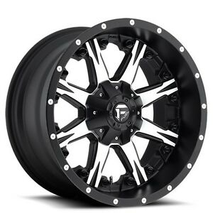4 new Off Road 18 Fuel Wheels D541 Nutz Black Machined Rims