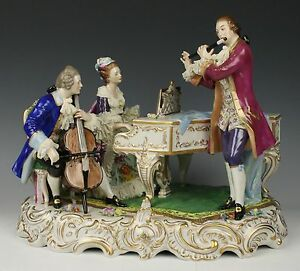 Dresden Volkstedt Lace Figurine Musical Trio Worldwide