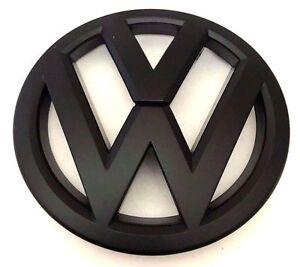 X1 New Matte Black Vw Emblem Replaces Oem 150mm Volkswagen Trunk Badge Decal
