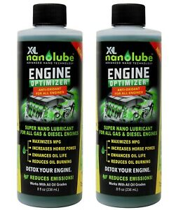 Xl Nanolube Oil Additive Engine Treatment Reduces Oil Burning Engine Smoke 8oz