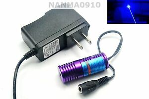 Focusable 445nm 450nm 50mw Blue Laser Diode Module W 5v Power Dot Lazer 20x58mm