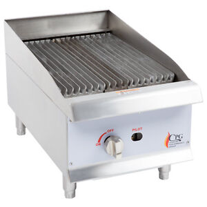 Commercial Charbroiler Grill 15 Gas Radiant Restaurant 40 000 Btu Cast Iron