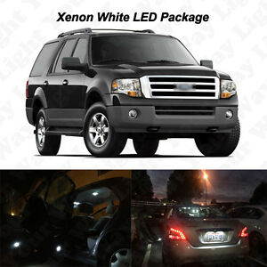 16x White Led Interior Bulbs Fog Reverse Tag Light For 2007 2014 Ford Expedition