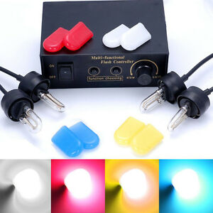 4 Color Hid Xenon Strobe Flash Lights White Emergency Warn Lamps Control Box