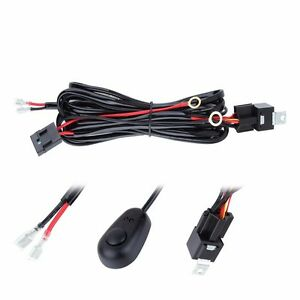12v 40a Led Work Fog Light Bar Wiring Harness Relay Kit On Off Switch Off Road