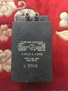 General Radio Standard Capacitor 509 r 0 05 If Honeywell Capital Asset 2662