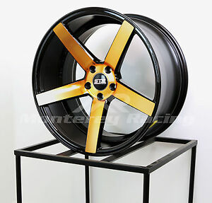 20x9 20x10 5 5x120 Str 607 Black W Copper Bmw Camaro