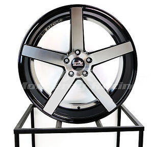 20x9 20x10 5 5x108 Str 607 Black Machine Ford Jagaur Volvo