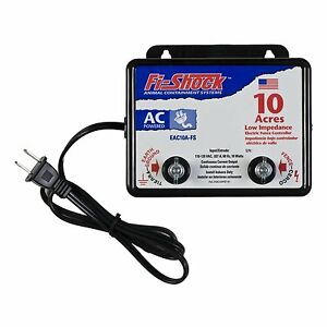 Fi shock Electric Fence Charger Energizer Controller 10 Acre Horse Deer Goat Cow