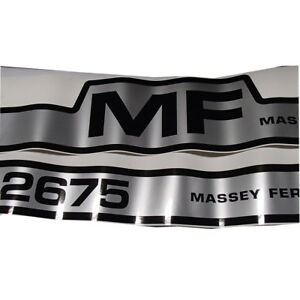 Vinyl Hood Decal Kit For Massey Ferguson 2675