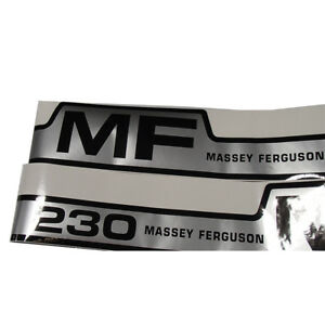 Vinyl Hood Decal Kit For Gas Massey Ferguson 230