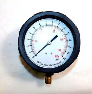 Test Pressure Gauge 4 0 To 15 Psi 1 4 Connection 4eff2 2202lhj2