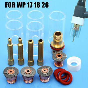 18x Tig Welding Torch Gas Saver 5 Pyrex Cup 1 16 3 32 1 8 Kit For Wp 17 18 26