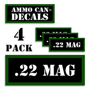 22 MAG Ammo Can 4x Labels for Ammunition Case 3