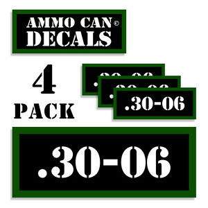 30-06 Ammo Can 4x Labels for Ammunition Case 3
