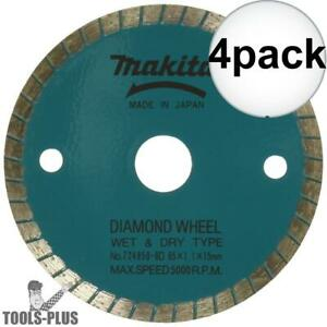 Makita 724950 8d 4pk 3 3 8 Wet dry Diamond Saw Blade New