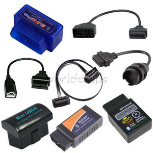 Elm327 Obd2 Bluetooth Wireless Scanner Car Diagnostic 3pin 16 22 38 Pin Cable