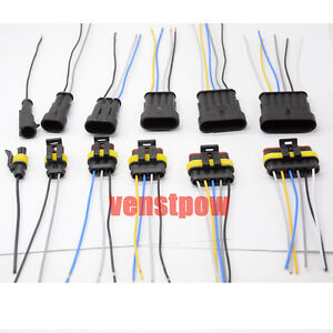 Connector Plug Wire Harness Each 5pcs 1 2 3 4 5 6 Pin Waterproof Electrical Wire