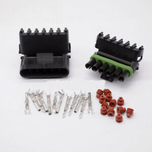 Weather Pack 50set 6pin Waterproof Electrical Wire Automotive Connector 16 14 Ga
