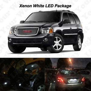 16 X White Led Interior Bulbs Reverse Tag Lights For 2002 2009 Gmc Envoy