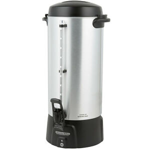 100 Cup Aluminum Coffee Urn Coffee Urn 3 9 Gallon Commercial Restaurant Church