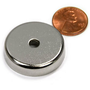 Cms Magnetics 88 Lb Holding Power Neodymium Cup Magnet 1 26 W 10 Countersink