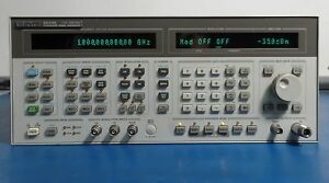 Hp 8644b 0 26 2060 Mhz Synthesized Signal Generator Options 001 002 Tested