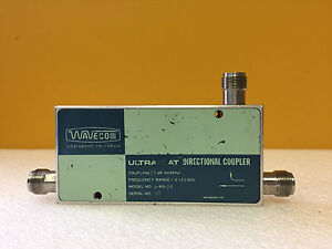 Wavecom L 910 20 10 To 20 Ghz 20 Db Type N f Flat Coax Directional Coupler