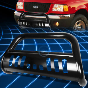 Black Ss Front Bumper Bull Bar Grille Guard For 1998 2011 Ford Ranger Pickup