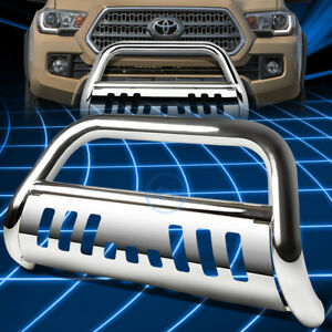 For 16 17 Toyota Tacoma 3 Chrome S s Bull Bar Push Front Bumper Grille Guard