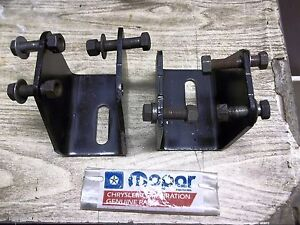 Mopar 318 340 360 Plymouth Dodge Truck And Van Engine Mount Brackets Used