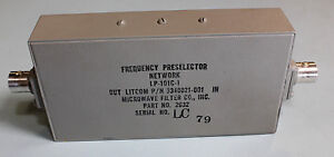 Litcom Lp 101c Microwave Filter Frequency Preselector Network 3340021 001