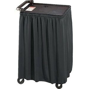 Av Cart Skirt Black Skirting 54 Tall Cart