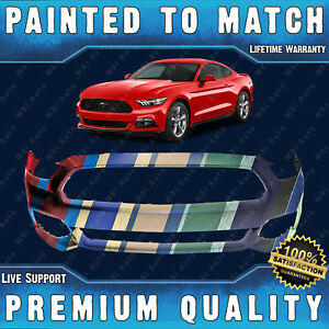 New Painted To Match Front Bumper Cover Fascia For 2015 2017 Ford Mustang 15 17