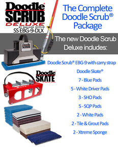 Square Scrub Doodle Scrub Deluxe Floor Scrubber Machine Package