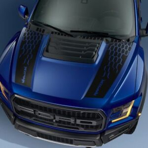 Ford F150 Raptor 2017 2018 Hood Graphics Package Kit Decal Sticker 3