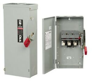 Thn3361 600vac 250vdc 30a 30hp 1 3phase 3pole Class R Non fusible Heavy Duty Saf