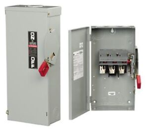 Thn3361r 600vac 250vdc 30a 30hp 1 3phase 3pole Class R Non fusible Heavy Duty Sa