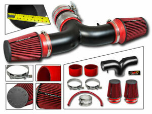Short Ram Air Intake Kit Matt Black Red Filter For 03 08 Ram1500 5 7l V8 Dual