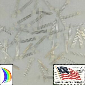 50x 2x5x5mm Square 4 pin Tri color Rgb Diffused Led Common Anode Usa