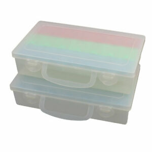 2pcs Plastic 21 Compartments Electronic Component Storage Box Case Container