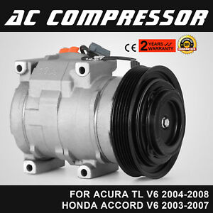 New Ac A c Compressor With Clutch Air Conditioning Pump 2 Year Warranty Great