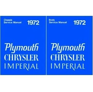 Body Chassis Shop Service Manual Set For 1972 Plymouth Chrysler Imperial