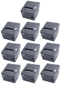lot Of 10 Epson Tm t88iv Pos Thermal Printer Micros Idn Interface Dark Grey